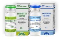 Раствор для инъекций Тиопентал натрия (Синтез)