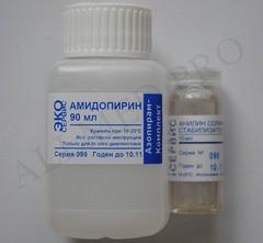Приводим инструкцию по применению препарата Амидопирин